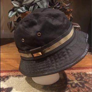Gucci Vintage Bucket Hat W/Leather Trim -  NWOT